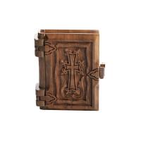 Новый Завет и псалтирь в деревянном переплете (на армянском)