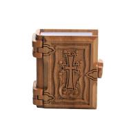 Новый Завет в деревянном переплете, маленький (на английском)