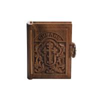 Подарочная Библия в деревянном переплете с позолотой (на русском)