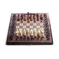 Деревянные шахматы-нарды 15х30