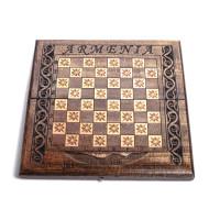 Деревянная доска шахматы-нарды 15х30