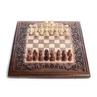 Деревянные шахматы-нарды 25х50