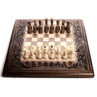 Шахматы-нарды с деревянными фигурками 25х50