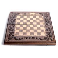 Деревянная доска шахматы-нарды 25х50