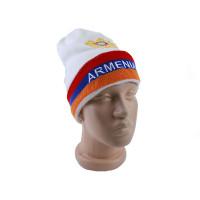 """Шапка белая """"Флаг Армении"""" арт. 11307"""