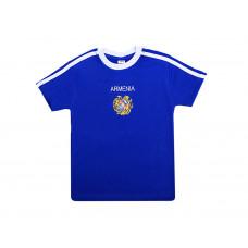 "Детская синяя футболка ""Герб Армении"" арт. 10985"