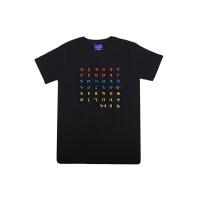 """Черная футболка  """"Армянский алфавит"""" арт. 10995"""