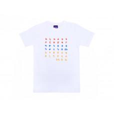 "Белая футболка  ""Армянский алфавит"" арт. 10996"
