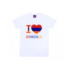 "Белая  футболка  ""Я люблю Армению"" арт. 10999"
