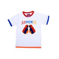 """Детская футболка белая """"Армения"""" арт. 11003"""
