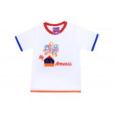 """Детская футболка белая """"Мой Дом-Армения"""" арт. 11004"""