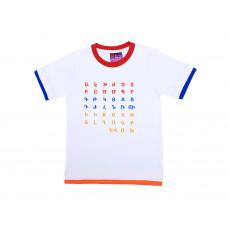 """Детская футболка белая """"Алфавит"""" арт. 11006"""