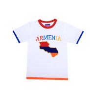 """Детская футболка белая """"Карта Армении"""" арт. 11007"""
