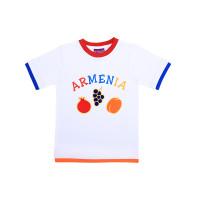 """Детская футболка белая """"Фрукты Армении"""" арт. 11009"""