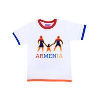 """Детская футболка белая """"Армения-семья"""" арт. 11012"""