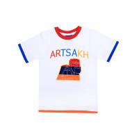 """Детская футболка белая """"Арцах"""" арт. 11014"""