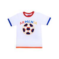 """Детская футболка белая """"Футбольный мяч"""" арт. 11015"""