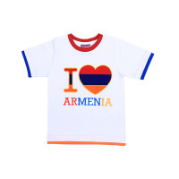 "Детская футболка белая ""I love Armenia"" арт. 11016"