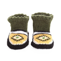 Вязаные детские тапочки носочки арт. 10819