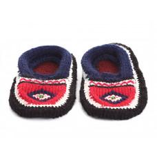 Вязаные детские тапочки носочки арт. 10853