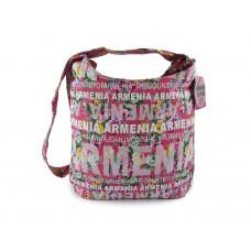 Розовая джинсовая сумка