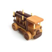 Деревянная эко-игрушка Мини Пожарная Машинка арт. 1458