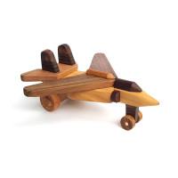 Деревянная эко-игрушка Самолет истребитель арт. 1444