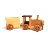 Деревянная эко-игрушка Трактор с прицепом арт. 1451