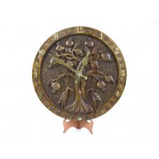 """Деревянные резные настенные часы """"Гранатовое дерево"""""""