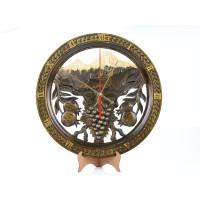 """Деревянные резные настенные часы """"Араратская долина"""""""