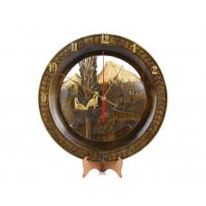 """Деревянные резные настенные часы """"Армения"""""""
