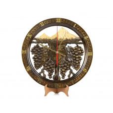 """Деревянные резные настенные часы """"Арарат"""""""
