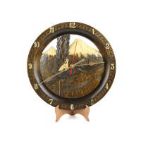 """Деревянные резные настенные часы """"Хор Вирап"""""""