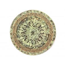 Декоративная глиняная тарелка