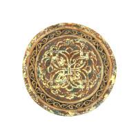 Декоративная  тарелка с орнаментом маленькая