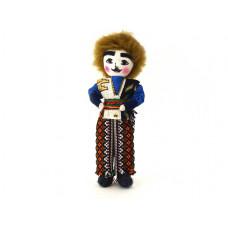 """Текстильная кукла  """"Мужчина"""" в национальном костюме 15 см"""