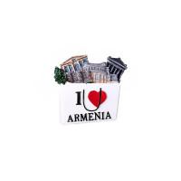 """Сувенирный магнитик """"I love Armenia"""""""