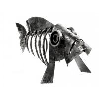 """Металлическая статуэтка """"Скелет рыбы"""""""