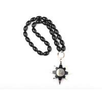 Четки черные со звездой из кварца и латуни арт. 10765
