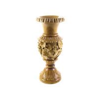 Деревянная ваза резная ручной работы арт. 10619
