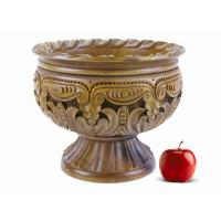 Деревянная фруктовница резная ручной работы арт. 10624