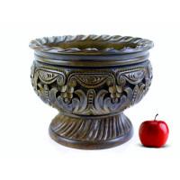 Деревянная фруктовница резная ручной работы арт. 10626