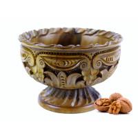 Деревянная конфетница резная ручной работы арт. 10628