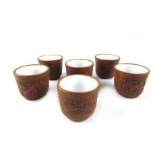 Набор керамических стаканчиков для спиртных напитков (6 шт)