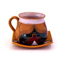 Чашка для кофейных напитков большая с блюдцем