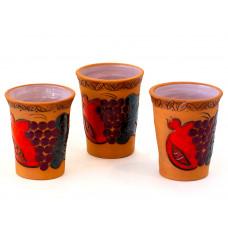 Глиняные стаканы для напитков 3 шт