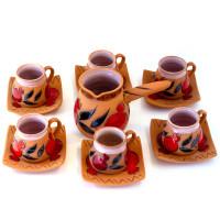 Кофейный набор 6 чашек +турка
