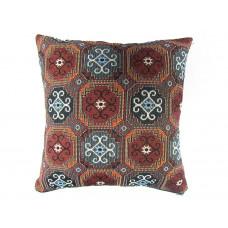 Наволочка на диванную подушку коричневая с орнаментом