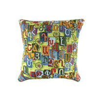 Наволочка на диванную подушку с орнаментом